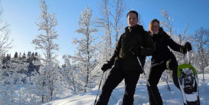 På snesko i Tromsø