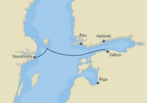 Stockholm - Talllinn Tallink Silja Line Ruby Rejser minikrydstogt