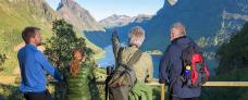 2g-vandretur ved Hjorundfjorden