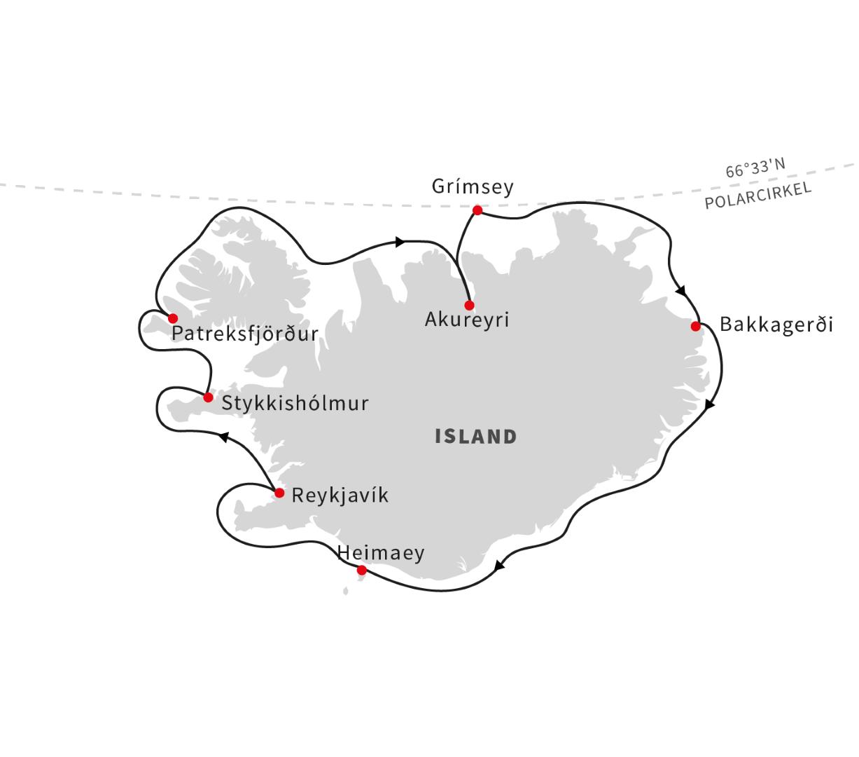 Det bedste af Island 9 dage - Hurtigruten - Ruby Rejser