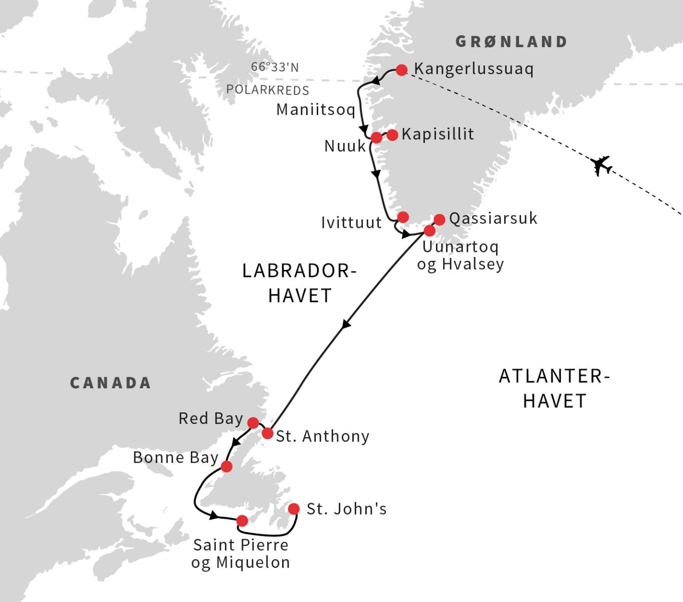 Grønland, Newfoundland og Labrador
