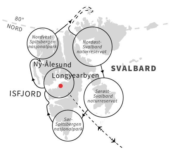 Svalbard rundt - Hurtigruten - Travelnorth - en del af Ruby Rejser