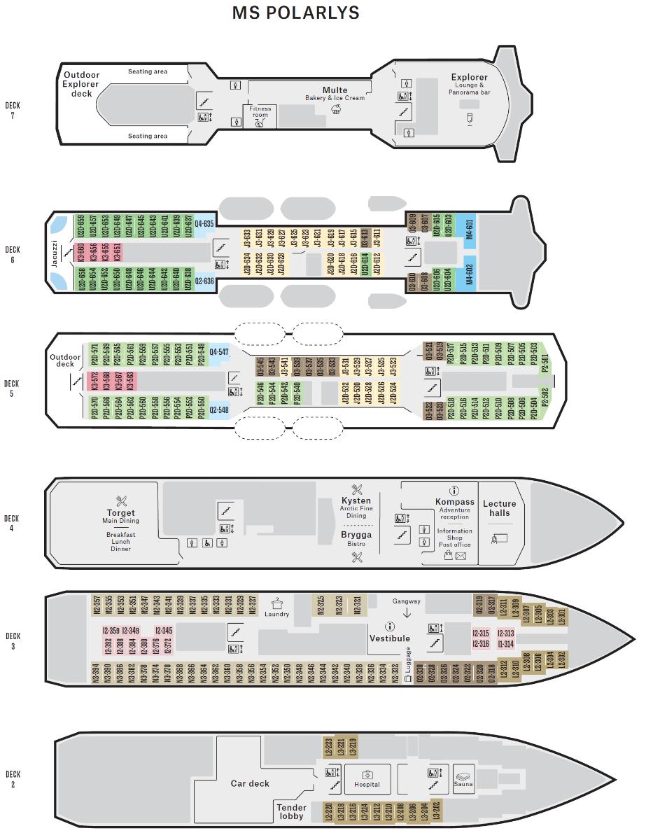 M/S Polarlys - Hurtigruten - Ruby Rejser