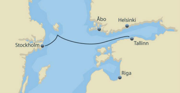 Minicruise fra Stockholm til Tallinn og retur med Ruby Rejser